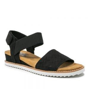 Skechers Desert Kiss Black. Premium Sandals