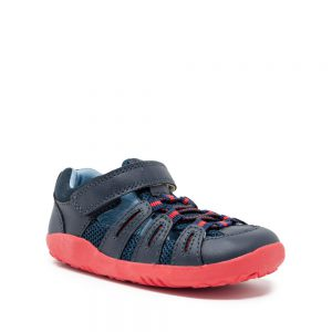Bobux IW Summit Navy Red. Best shoes for growing feet.