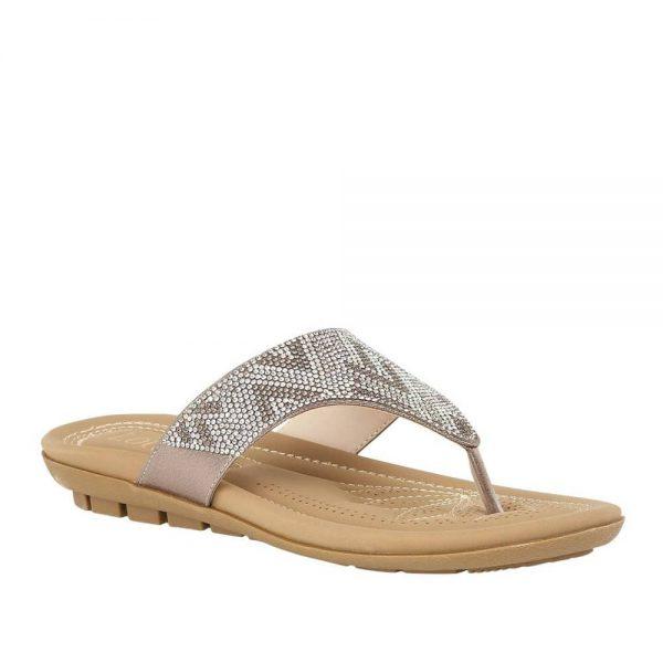 Lotus Patti Silver Toe-Post Sandal