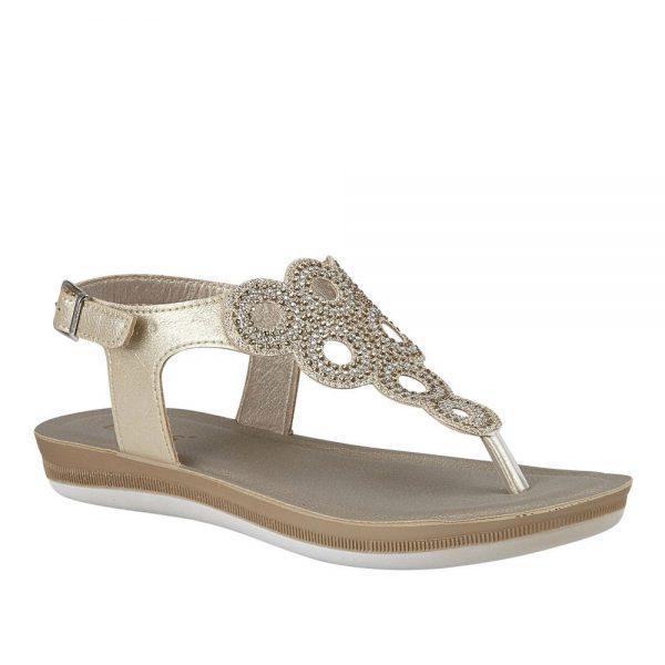 Lotus Milan Gold Sandal. Premium Sandals
