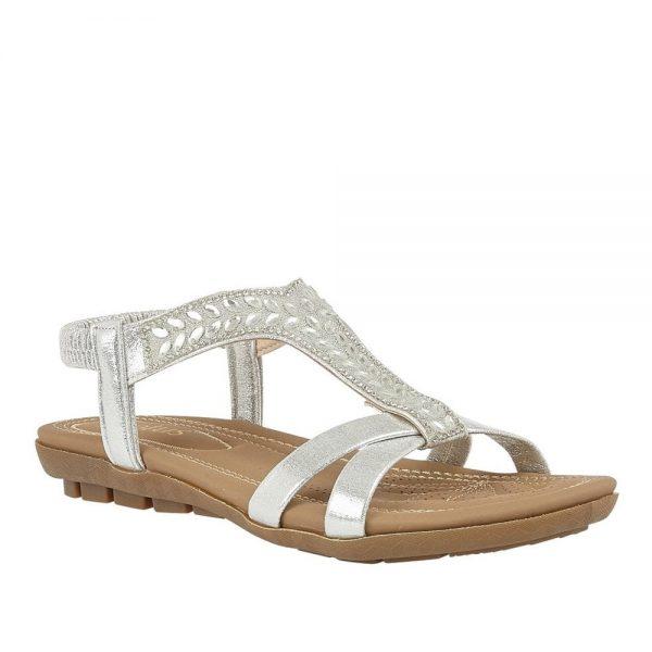 Silver Freya Silver. Premium Sandals