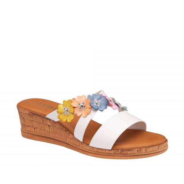 Lotus Liona Slip-On Wedge Sandals