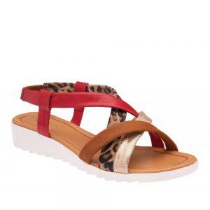 Lotus Ronnie Tan Multi Leather. Premium Sandals