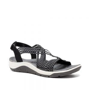 Skechers Reggae Cup Oh, Snap!. Black Premium Sandals