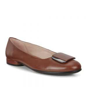Ecco Anine Ballerina Cinnamon. Premium Leather Shoes