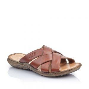 Rieker 22098-24 Slip On Sandals Brown