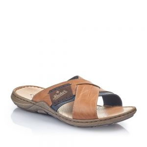 Rieker 22099-25 Slip On Sandals Brown