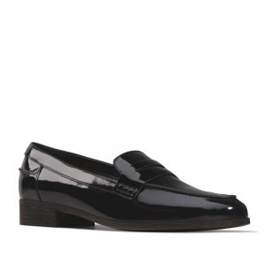 Clarks Hamble Loafer Black Patent