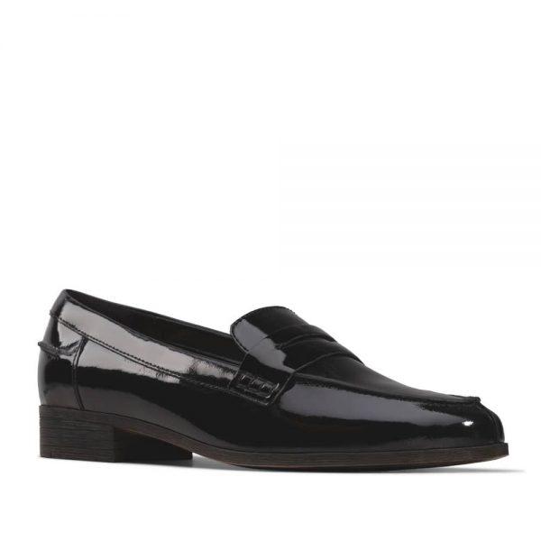 Clarks Hamble Loafer Black Patent