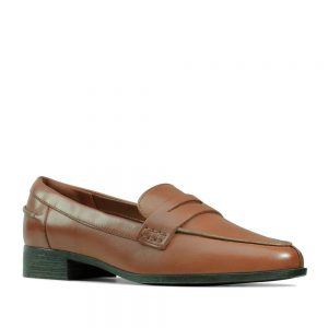 Clarks Hamble Loafer Tan Leather