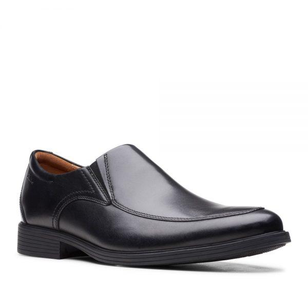 Clarks Whiddon Step Black. Premium Leather Shoes
