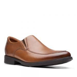 Clarks Whiddon Step Dark Tan. Premium Leather Shoes