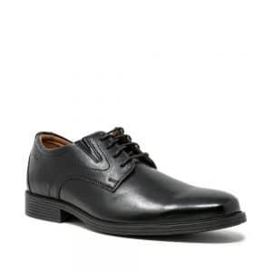 Clarks Whiddon Plain Black. Premium Shoes