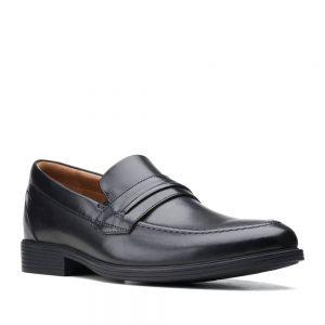 Clarks Whiddon Loafer Black Leather
