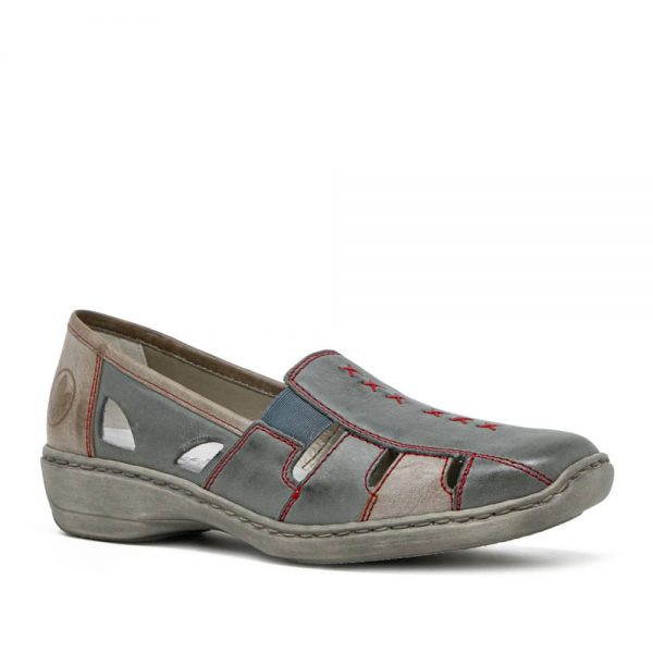 Rieker 41385-13 Ladies Leather Slip On Shoes