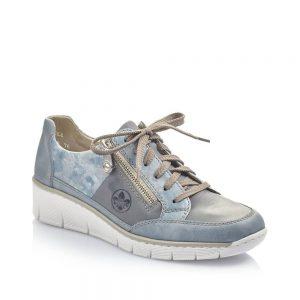 Rieker 53716-12 Ladies Blue Shoes
