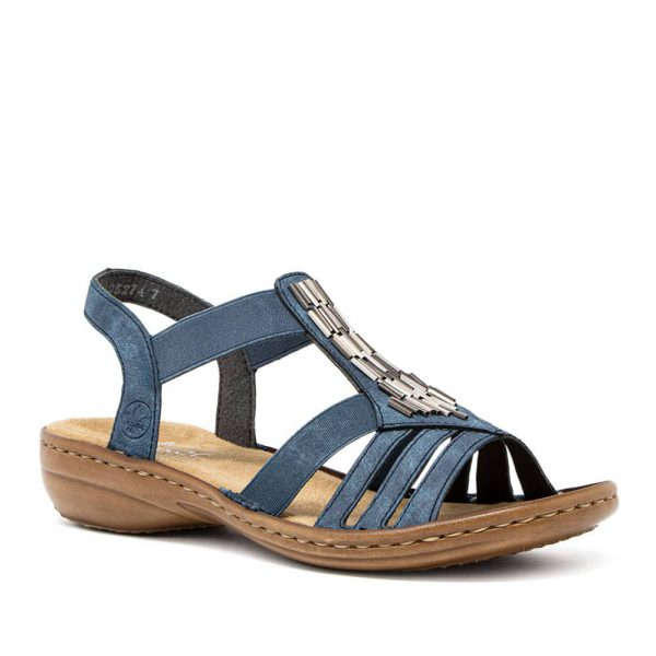 Rieker 60800-14 Ladies Blue Sandals