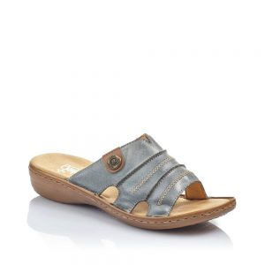 Rieker 60876-12 Ladies Blue Slip On Sandals