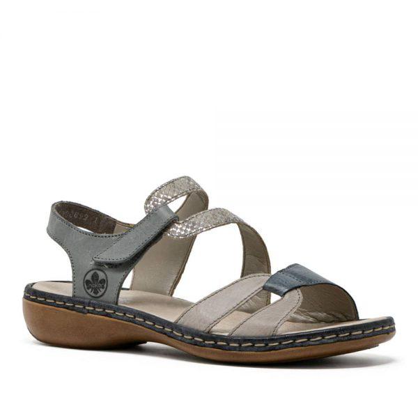 Rieker 65969-42 Blue Women's Rip Tape Sandals