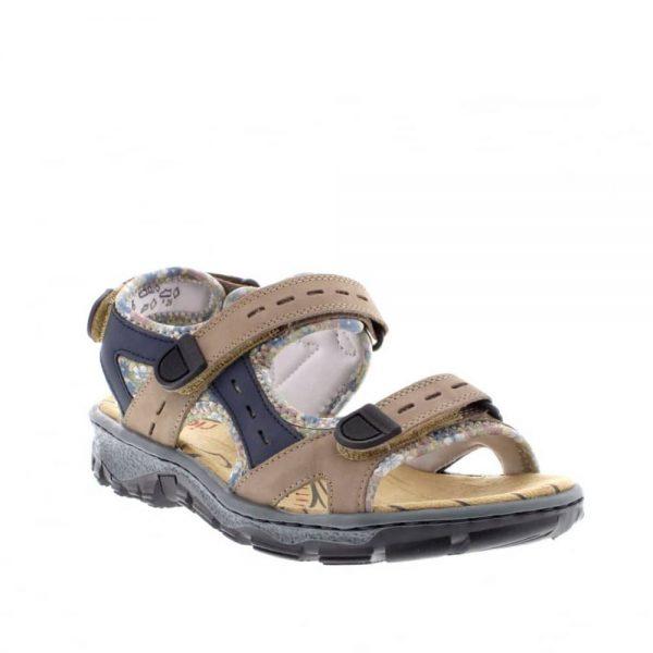 Rieker 68872-25 Ladies Brown Sandals