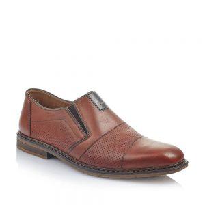 Rieker B176524 Men's Brown Slip On Shoes