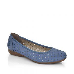 Rieker L8355-14 Ladies Blue Slip On Shoes