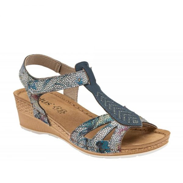 Lotus Navy Vincenza Sandals