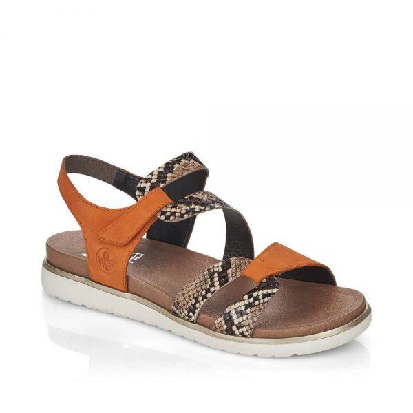 Rieker V5069-24 Ladies Brown Fastener Sandals