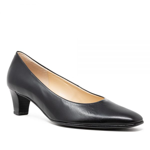 Gabor 05.180.37. Premium Black Leather Wome's Shoes