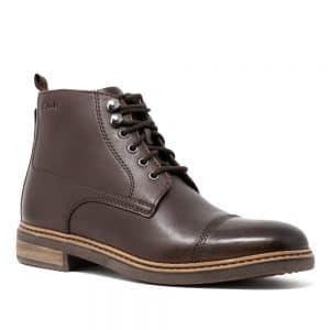 CLARKS Blackford Rise Dark Brown Leather