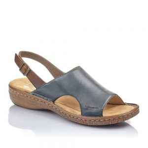 Rieker 628C5-14 Ladies Blue Sandals