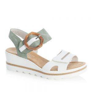 Rieker 67476-81 Ladies White Sandals