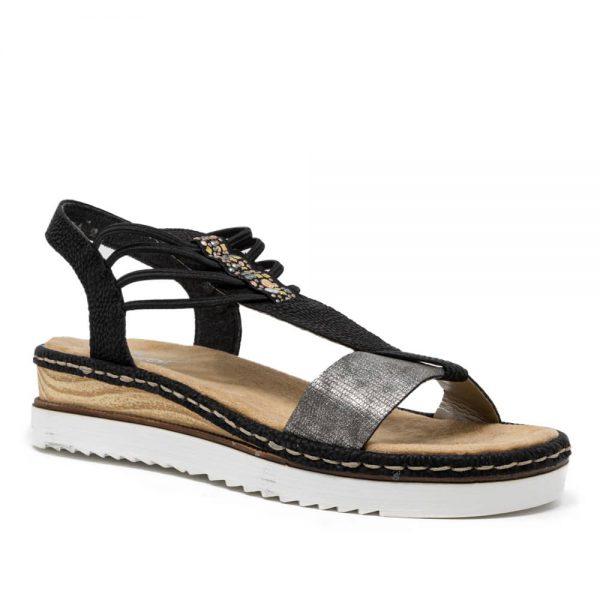Rieker 679L1-90 Ladies Black Sandals