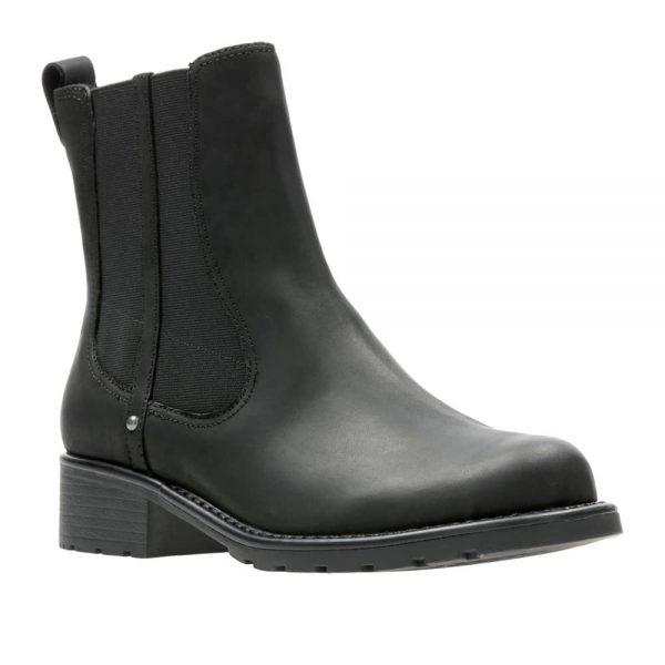 CLARKS Orinoco Club Black Leather