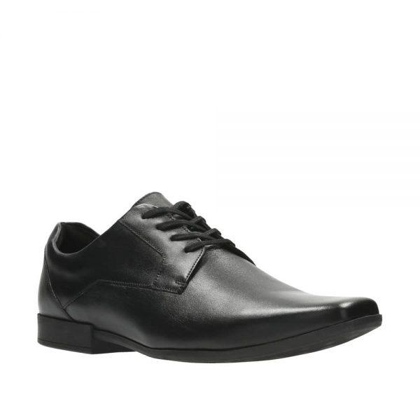 CLARKS Glement Lace Black. Premium Shoes