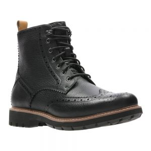 CLARKS Batcombe Lord Black Leather