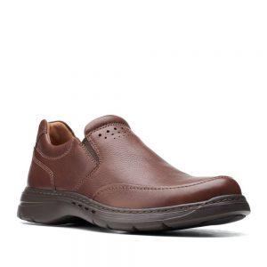 CLARKS Un Brawley Step Mahogany Leather