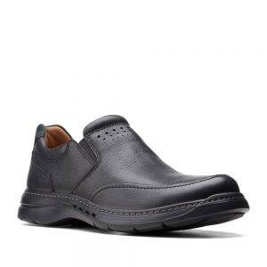 CLARKS Un Brawley Step Black Leather
