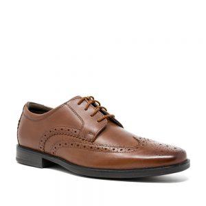 CLARKS Howard Wing Dark Tan. Premium Shoes