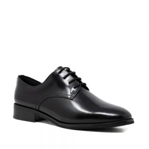 CLARKS Ria Derby Black Leather. Premium Leather Shoes