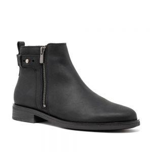 CLARKS Memi Lo Black. Premium Leather Shoes
