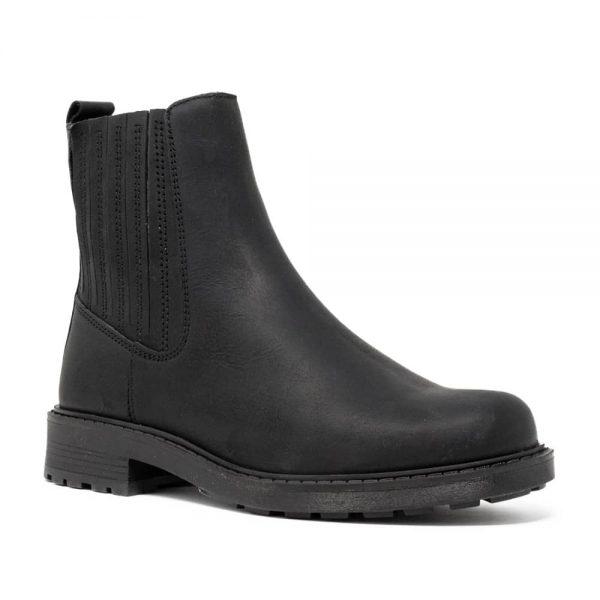 CLARKS Orinoco2 Mid Black. Premium Leather Shoes