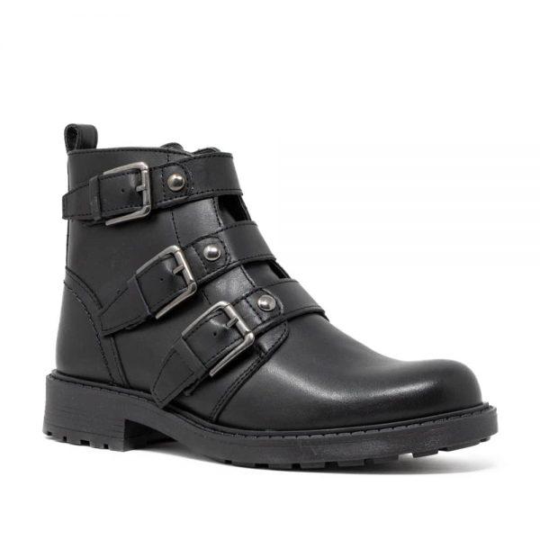 CLARKS Orinoco2 Stud Black. Premium Leather Shoes