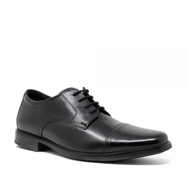 CLARKS Howard Cap Black. Premium Shoes