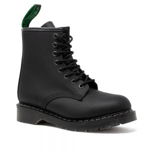 Solovair Black Greasy 8 Eye Derby Boots