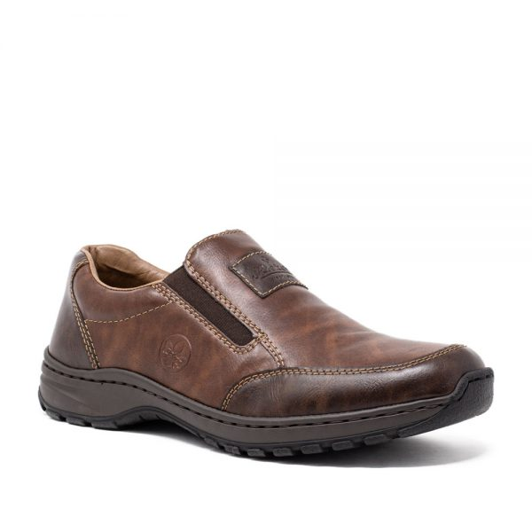 Rieker 03354-26 Men's Brown Slip-On Shoes