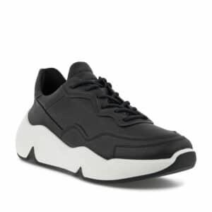 Ecco Chunky Black W. Premium Leather Sneakers