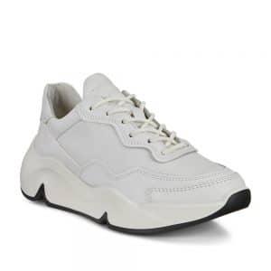 Ecco Chunky White W. Premium Leather Sneaker