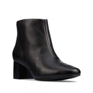 CLARKS Sheer55 Zip Black Leather