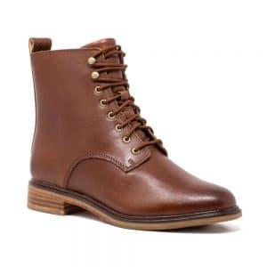 CLARKS Clarkdale Lace Dark Tan. Premium Leather Shoes